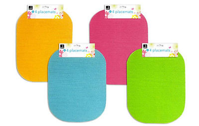 New 4  Non Slip Oval Lunch Dinner Dining Table Setting Mats Wipe Clean Placemats