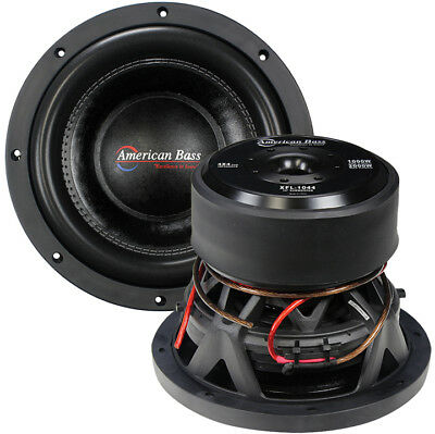 "New American Bass Xfl1044 10"" Dvc 2000W Car Audio Subwoofer 10In Sub Woofer"