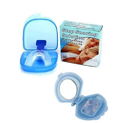 Mouthguard Mouthpiece + Nose Clip Snoring Aid Anti Snore Sleep Mouth Guard