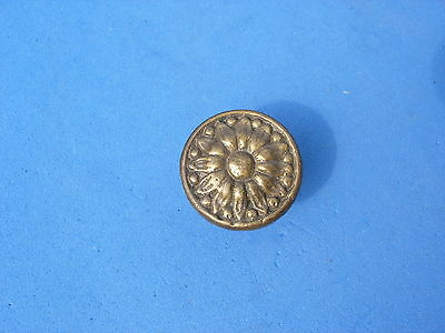 Antique Vintage Italian Brass Knob Furniture Pull Drawer Door New Old Stock NOS