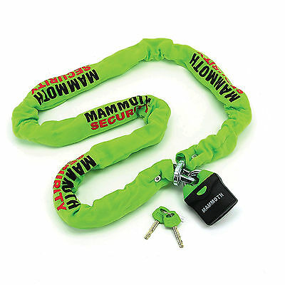 Mammoth Motorcycle Square Security Chain 10mm x 1.8mm Shackle Lock