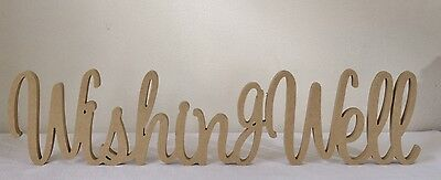 Wishing Well MDF Wooden Letters freestanding sign gift, wedding decor, birthday