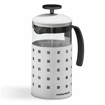 Morphy Richards 1000ml 8 Cup Cafetieres Tea Coffee Maker French Press White New