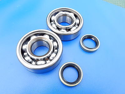 Mobylette Motobecane Moped 16mm Main Crankshaft Bearings and Seals Set Kit