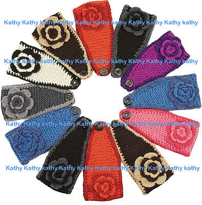 Wholesale Lot 12 PCS HEADWEAR Crochet Flower Knit Headwraps Headband Ear Warmer