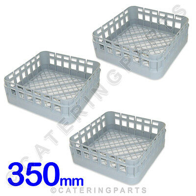 3 x CLASSEQ CLASSIC 350mm x 350mm CUP DISHWASHER GLASSWASHER RACKS BASKETS