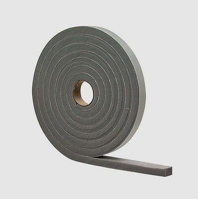 "New! 02279 M-D Gray Foam Cell WEATHER STRIPPING TAPE SELF ADHESIVE 1/4""x1/2""x17'"