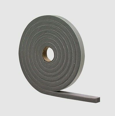 "New! 02311 M-D Gray Foam Cell WEATHER STRIPPING TAPE SELF ADHESIVE 1/2""x3/4""x10'"