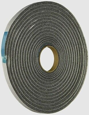 """New 02055 M-D Gray Foam Cell WEATHER STRIPPING TAPE SELF ADHESIVE 3/16""""x3/8""""x17'"""