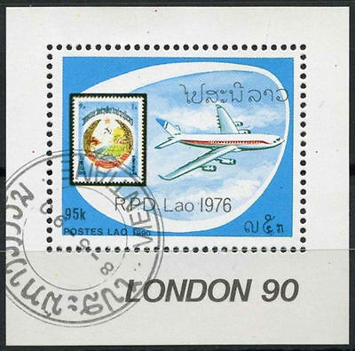 Laos 1990 SG#MS1192 Stamp Exhibition Aircraft Cto Used M/S #A92940