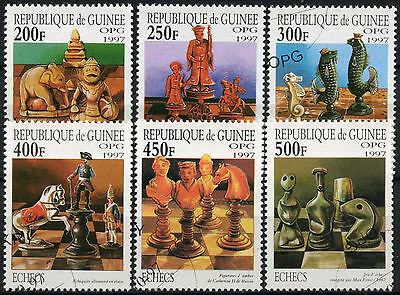 Guinea 1997 SG#1768-1773 Chesss Pieces Cto Used Set #A92727