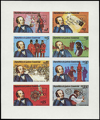 Equatorial Guinea 1980 Sir Rowland Hill, London 1980 MNH Imperf Sheet #C28994