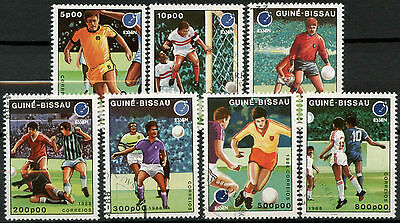 Guinea-Bissau 1988 SG#1021-7 Football Cto Used Set #A92747