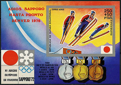 Equatorial Guinea 1972 Winter Olympics MNH Imperf M/S #A92642