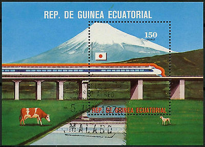 Equatorial Guinea 1978 Train Cto Used M/S #A92772