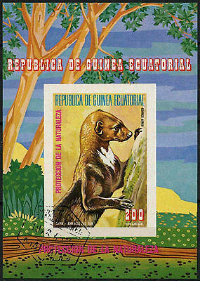 Equatorial Guinea 1970's Nature Protection Cto Used Imperf M/S #A92624