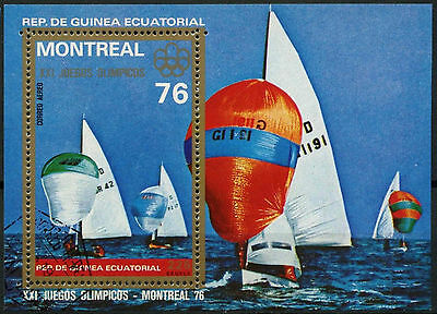 Equatorial Guinea 1976 Sailing Olympic Games Cto Used M/S #A92761