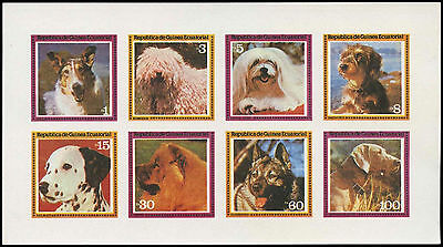Equatorial Guinea 1970's Dogs MNH Imperf Sheet #C28999