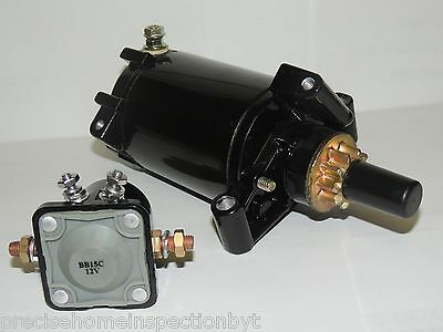 NEW PREMIUM STARTER & SOLENOID COMBO for EVENRUDE OUTBOARD 25 HP 1998