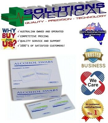 5000 X Alcohol Wipes, Medical Wipes / Medi Swabs - Sterile Cleaners
