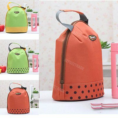 Portable Cooling Warm Office Picnic Fruit Food Lunch Dinner Hand Bag Pouch Tote