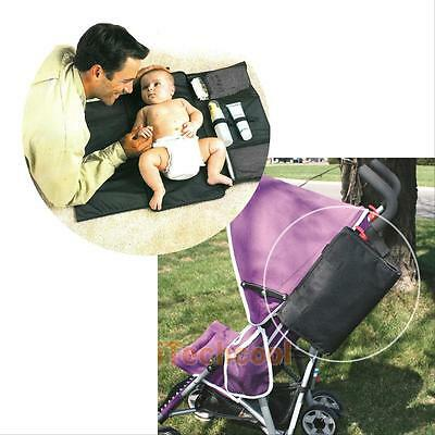 Portable Baby Nappy Diaper Changing Clutch Mat Foldable Pad Handbag Wallet style
