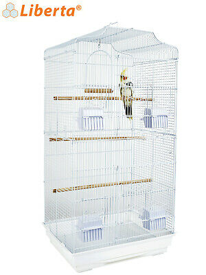 Liberta Lotus Large Xl Bird Budgie Cockatiel Small Parrot White 2 Tier Cage New