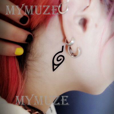 Naruto Leaf Village Symbol Cosplay Tattoo Sticker Konoha Ninja Tatoo