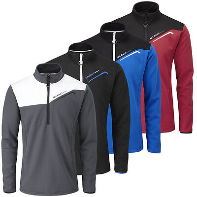 Stuburt 2015 Mens Cyclone Half Zip Golf Fleece Wind Proof Thermal Top SBTOP664