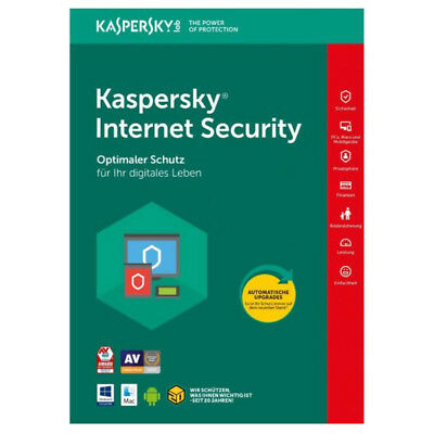 Kaspersky Internet Security 2018 1 PC 1 Jahr | Sofortversand per Email