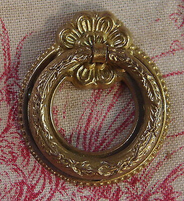 VINTAGE FRENCH BRONZE DRAWER PULL HANDLE  Antique style / small