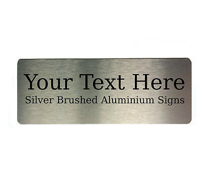 Your Text Metal Aluminium Sign Door Plaques House Office Name Custom Personalise