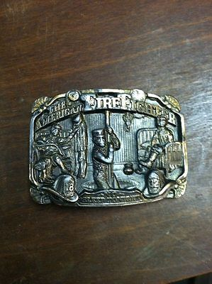 Vintage Rare 1986 THE AMERICAN FIREFIGHTER BRASS BELT BUCKLE