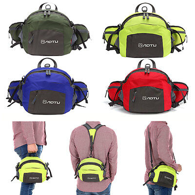 New Unisex Waterproof Travel fanny pack Hiking Belt Pouch backpack Hip Waist bag
