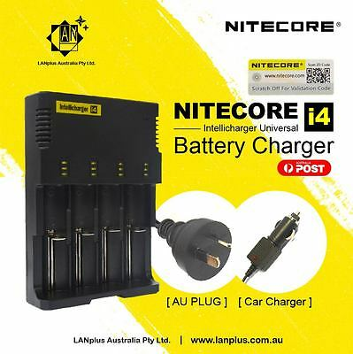 Nitecore i4 Universal Battery IntelliCharger 4-Channel Li-ion LiFePO4 18650 NiMH
