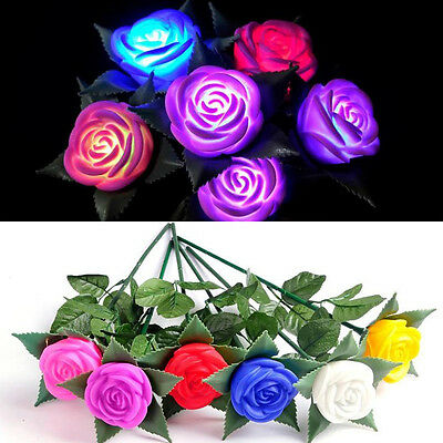 New LED Rose Flower Lamp Wedding Garden Party Christmas Decoration String Lights