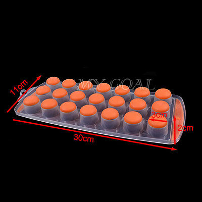 Easy Pop Out Shape Ice 18 Cube Jelly Chocolate Pudding Maker Tray Silicone Mould