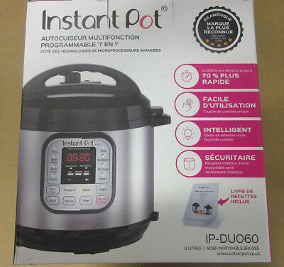 Instant Pot Duo 7-in-1 Electric Pressure Cooker Brushed Stainless Steel/Black