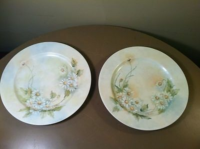 Super Rare Haviland France Plate Set by D. Wilkie-Vintage Antique China-Daisies