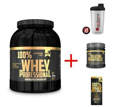 100% Whey Professional Gold's Nutrition Proteine Siero Latte + Creatina Scitec