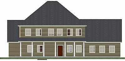 House Plan - Ready to Build - 2 Story Cap Cod House Plan - PL15013SL