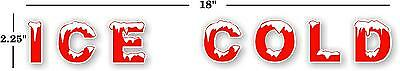"18"" Ice Cold Horizonal Soda Coca Cola Pepsi Cooler Decal Sticker"