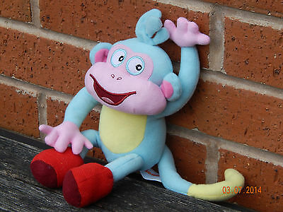 "Dora The Explorer -  Boots The Monkey! Plush Soft Toy! 10"" Brand New!"