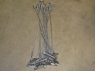 Duckbill earth anchor 1/8 Cable Stakes (1 dozen)24'' trapping stakes duke snares