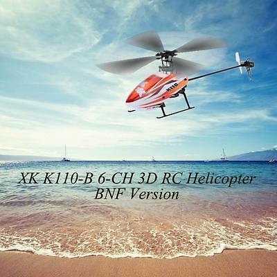 XK Blast K110-B 6CH 3D 6G System Brushless Motor BNF RC Helicopter New OK2P