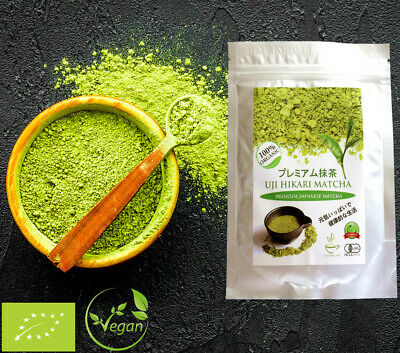 100% Pure Grade A1+ Japanese Organic Matcha Green Tea Powder Uk Seller