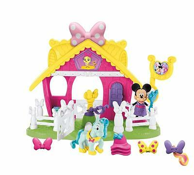 Disney Minnie Mouse Jump 'n Style Pony Stable Play Set 13pc Xmas Gift Official