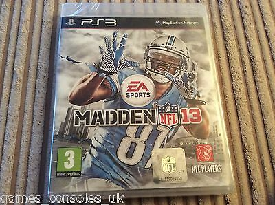 Sony Ps3 Nfl Madden 13 Game New And Sealed Playstation Football