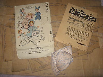 Ginette Tiny Tears Betsy Wetsy Dydee Doll Clothes ORIGINAL PATTERN 2183 13-14