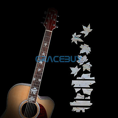 Maple Guitar Inlay Sticker Fret Markers Fretboard Decals for Bass Ukulele New